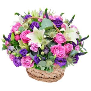 """Корзина с цветами """"Императрица"""""""