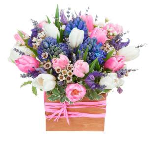 """Цветы в коробке """"Счастливое мгновенье"""""""