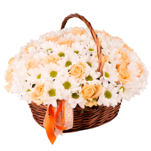 """Цветы в корзинке """"Комплимент"""""""