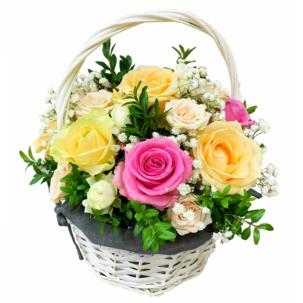 """Цветы в корзинке """"Трепетные чувства"""""""